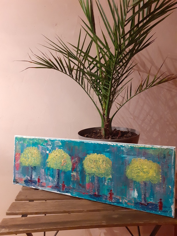 Tableau peinture les arbres